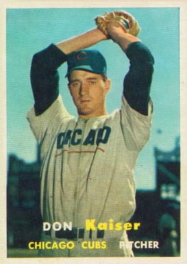 1957 Don Kaiser Topps card