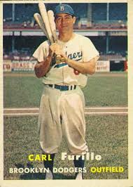 Carl Furillo 1957 Topps baseball card