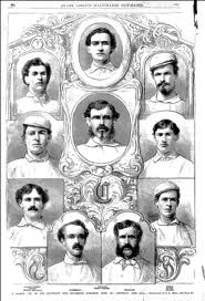 The 1869 Red Stockings, George Wright at top center