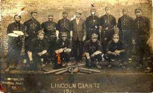 the 1911 Lincoln Giants