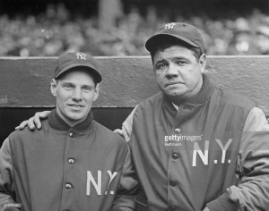 "Leo ""the Lip"" while with the Yankees. Durocher's on the left, the other guy is unknown."